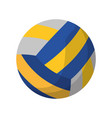 volleyball ball sport icon vector image vector image