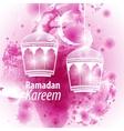 Watercolor purple blob Ramadan kareem vector image