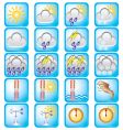 weather theme vector image vector image