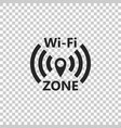 wi-fi network icon on transparent background vector image