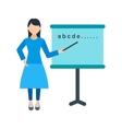 Woman Teaching vector image