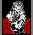 women mafia bandit gangster handling gun vector image vector image