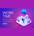 work and internet technology vector image vector image