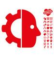 cyborg icon with valentine bonus vector image