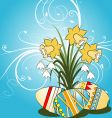 easter theme vector image