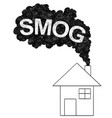 artistic drawing of smoke coming from house vector image