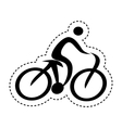 athlete figure human with bicycle icon vector image vector image