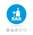 bar or pub sign icon wine bottle and glass