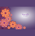 beautiful background with flowers paper art vector image vector image