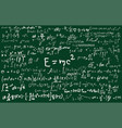 blackboard inscribed with scientific formulas and vector image