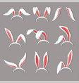 bunny ears on hoop costume element rabbit or hare vector image