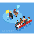 Business Coaching Isometric Template vector image vector image