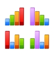 Business graph growth progress vector image