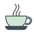cafe isolated icon steaming coffee cup hotel vector image vector image
