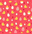 chicken and eggs wallpaper seamless pattern vector image