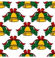 Christmas bell seamless pattern vector image vector image