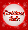 christmas sale sign banner template vector image vector image
