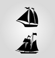 classic sailing symbol icon vector image vector image