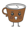 coffee cup kawaii character vector image