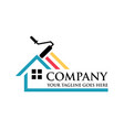 colorful paint house logo design vector image vector image