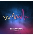 digital equalizer with colored lights and vector image vector image