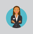 employee woman vector image