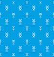 farm windmill pattern seamless blue vector image vector image
