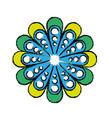 floral mandala icon vector image vector image