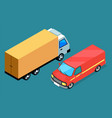 free delivery car icon logistic transport vector image
