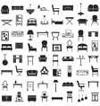 furniture icons on white vector image