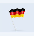 germany flag on flagpole waving in wind vector image vector image