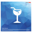 glass of juice icon vector image