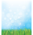 grass sky background vector image vector image