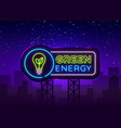 Green energy neon sign eco energy design