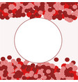 greeting card on white background with roses vector image