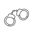 handcuffs linear icon vector image