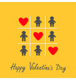 Happy Valentines Day Love card Man Woman icon Tic vector image vector image