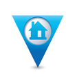 home icon map pointer blue vector image