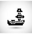Horizontal boring machine icon vector image vector image