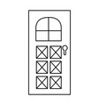 house door isolated icon vector image vector image