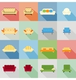 icons of matching sofa and chair vector image vector image