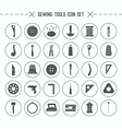 Icons set sewing and hobby tools vector image