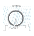 Isolated skyline of London vector image vector image