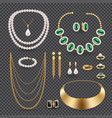 jewelry accessories transparent set vector image vector image
