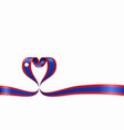 laos flag heart-shaped ribbon vector image