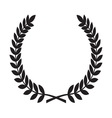 Laurel Wreath icon1 resize vector image vector image