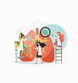 lung inspection flat style design vector image