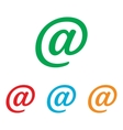 Mail sign Colorfull set vector image