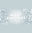merry christmas with 3d typographic text vector image