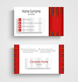Modern red light business card template vector image